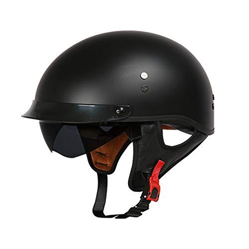 SXC Vintage Open Face Half Helm, Motorrad Offener Halbhelm mit Brille Vintage Jet Harley Helm Cruiser Helm DOT/ECE zertifiziertes Motorrad, 57-64cm