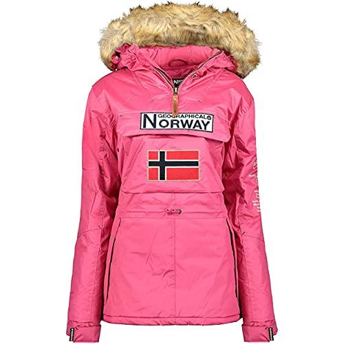 Geographical Norway Bridget Lady - Parka Impermeable Mujeres - Abrigo Grueso Capucha...