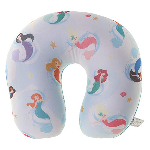 Puckator Nackenkissen Meerjungfrau, weiß-bunt, mit Mermaid-Motiven. Nackenhörnchen mit Mikropellet-Füllung, Maße (H x B x T): 25 x 31 x 10 cm. Ideales Relaxkissen/Reisekissen.