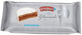 Alfajores Terrabusi (Blanco Glaseado Relleno con Dulce de Leche, 300 gr.)