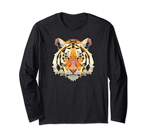Cool Geometric Bengal Indian Tiger Cat Long Sleeve Shirt