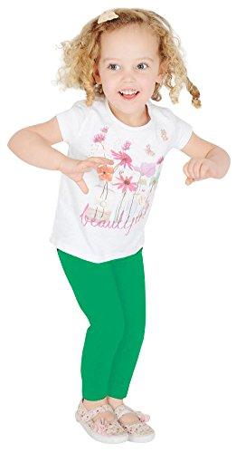 Leggings lunghi per bambine, in cotone Verde Green
