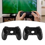 impugnature per giochi, guscio per controller di gioco dal design ergonomico, guscio per joypad nero per nintendo switch joy‑con(black + black 2 packs)