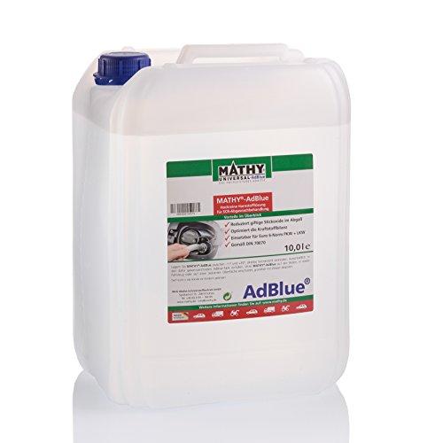MATHY Adblue 10 Liter hochreine Harnstofflösung für SCR Abgasnachbehandlung inklusive Einfüllhilfe