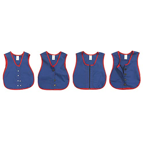 Children's Factory Manual Dexterity Learning Vests - Set of 4 Classroom Furniture (CF361-322), Blue