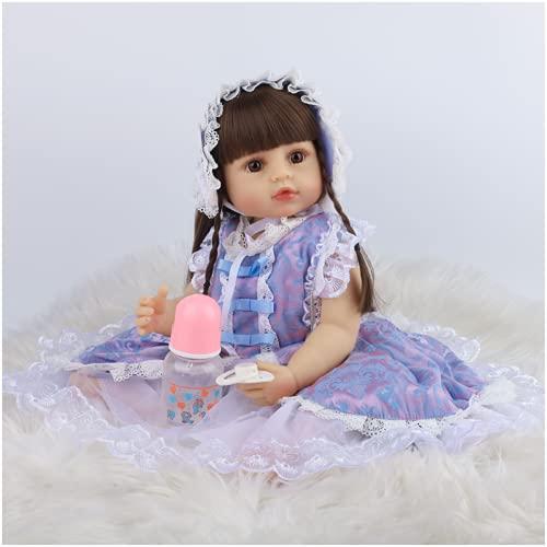 YANRU MuñEcas De Silicona Baratas - 22 Pulgadas Bebé Reborn De Silicona Real - Sin PVC PequeñA MuñEca - Kids Toys Cute Girl Boy