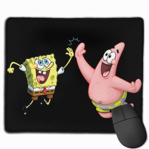 Qwtywqekeertyi Spongebob Game Mouse Pad DIY Game Pad Desk Pad Non-Slip Mouse Pad 25x30