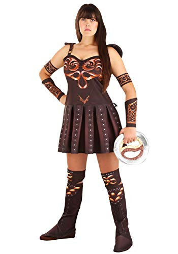 Women's Plus Xena Warrior Princess Fancy Dress - Disfraz de princesa Multi-colored 1X
