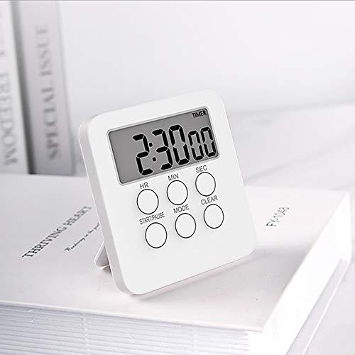 Btuty Temporizador digital Relógio Cozinhar Magnético Contagem Regressiva Alarme 24 Horas com Tela LCD Modo Mudo para Estudar Esportes Escritório Biblioteca de Sala de Aula