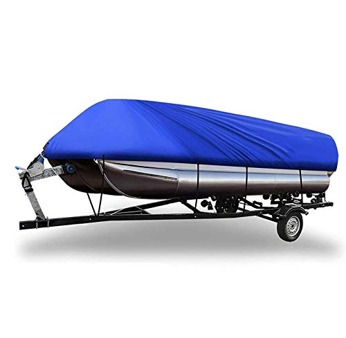 Funda para barco Runabout, 11-24 pies Fundas para barco de esquí 600D Tela Oxford de grado marino Funda para barco remolcable Bloqueador solar impermeable Protección UV Se adapta a barcos de bajo Sk