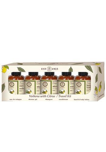 Nurso Limón Verbena & con aceite de oliva natural: EAU de Cologne, champú, gel de ducha, loción de manos y cuerpo, enjuague del cabello/Vegan Juego de 5