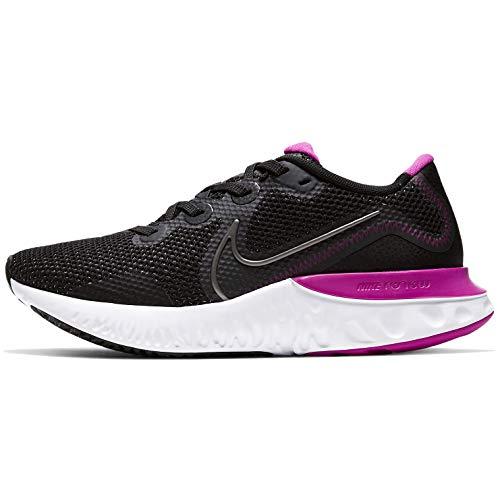 Nike Women's Race Running Shoe, Black/Mtlc Dark Grey-white-fire Pink, 9