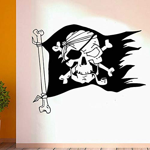 Creative Wall Stickers Pirate Flag Wall Stickers Boy Teens Decoration Vinyl Wall Decals Pirate Home Decor | Art Deco for Motivation and Inspiration