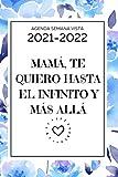 Agenda 2021 2022 Semana Vista: 1 de octubre de 2021 al 31 de diciembre de 2022   Calendario Planificador semanal y mensual   Español  Regalos originales para mujer madre mama