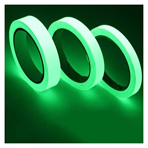 Adornos Resplandor en la cinta auto-luminosa oscura, autoadhesivo, resplandor, en la etiqueta de la pared oscura, fluorescente, fluorescente, adhesivo de cinta, seguridad, fluorescente, rollo de emerg
