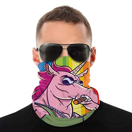 Nother Bandana antiviento con diseño de unicornio con bandera gay y arco iris, lavable, antipolvo, pasamontañas para la cara y la boca