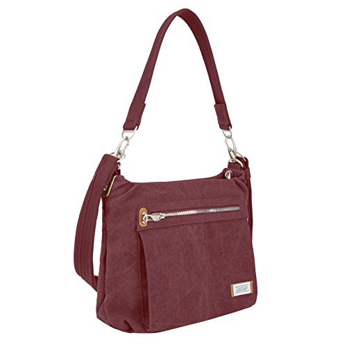 Travelon Anti-Theft Heritage Hobo Bag, Wine, One Size