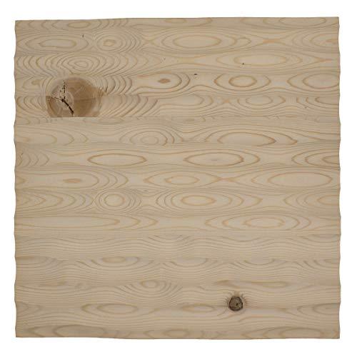 4betterdays.com NATURlich leben! Wandpaneel/Wandverkleidung/Wand Deko aus Fichtenholz | Länge: 33 cm, Breite: 33 cm, Stärke: 2,8 cm | plastikfrei & nachhaltig | Tischlerhandwerk aus Südtirol