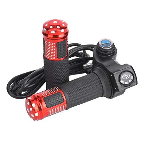 Germerse Scooter Twist Throttle, E-Bike Pantalla del Acelerador de Pulgar mostrada en Tiempo Real para E-Bike((Red Grip))
