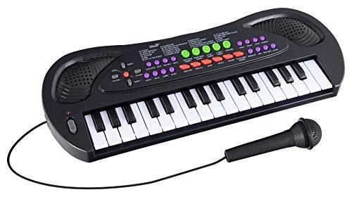 McGrey KK-3808 32 Tasten Spielzeug Keyboard - Kinder Keyboard mit Mikrofon zum Mitsingen und 8 Begleitrhythmen und Demosongs - Kleines Kinderpiano - Elektrisches Musikspielzeug