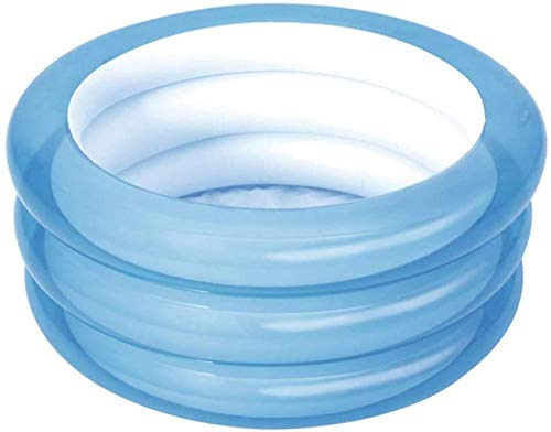 Opblaasbaar familiezwembad, opblaasbaar kinderzwembad, blauw 3-ring huishoudelijk baby-slijtvast dik marine ballenbad voor 0-3 jaar oud roze