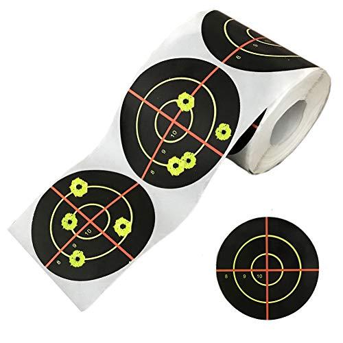 PISTEP Splatter Targets for Shooting 3 Inch Reactive Paper Target Stickers 250 Self Adhesive Target Roll for BB Gun, Pellet Gun, Airsoft, Pistol, Rifle Shooting Practice