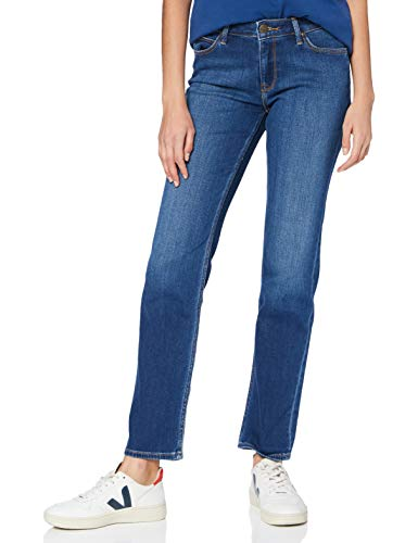 Lee Marion Straight Jeans, Mid Worn in Ray, 26W x 31L Femme