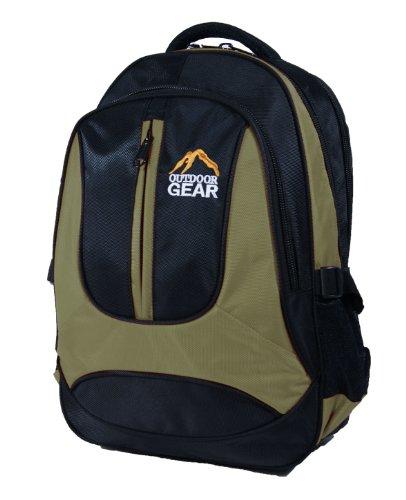 Outdoor Gear 6614 - Zaino per laptop, nero (nero), 40 cm ca.