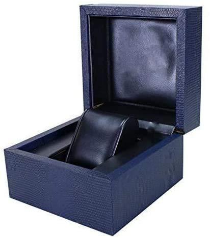 Gymqian Single Grids Watch Box Watch Storage, Jewelry Organizer Faux Leather Watch Storage Box for Men Women Watch Noble
