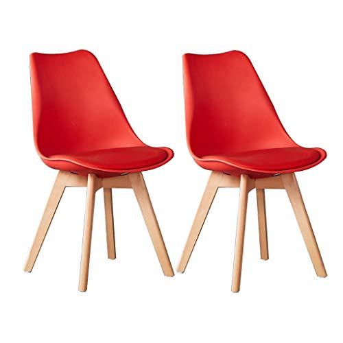 Sly - Juego de 2 sillas de comedor de polipropileno para hotel, restaurante, oficina, reuniones, respaldo de ordenador