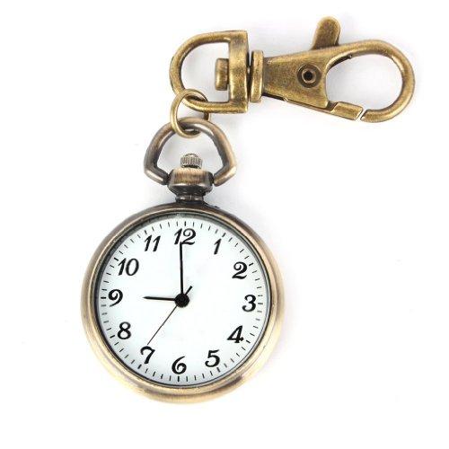 Orologio al quarzo Sodial (R) color bronzo, rotondo. orologio da tasca, portachiavi da donna, bambini; orologio regalo, regalo di Natale