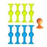 LUCKYYL Pop Sucker Toys, marcador de silicona + juego de dardos, gran chupadores para múltiples superficies como vidrio, metal y plástico, liberación interactiva familiar 2021 (adulto)