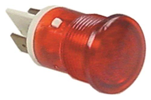 Lampe de signalisation ambach Rouge Ø 16 mm 230 V pour Prima Bouilloire Connexion Cosses 6,3 mm