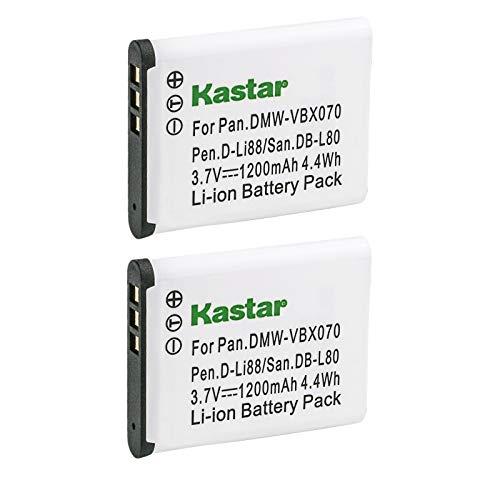 Kastar 2X DB-L80 VW-VBX070 D-LI88 Battery Replace...