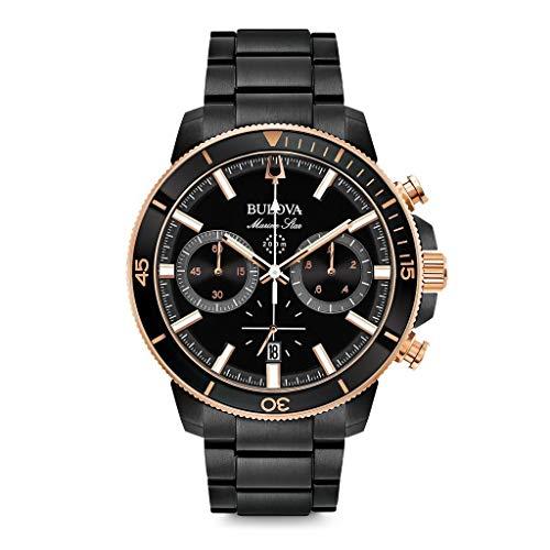 Bulova Orologio Cronografo Quarzo Uomo con Cinturino in Acciaio Inox 98B302