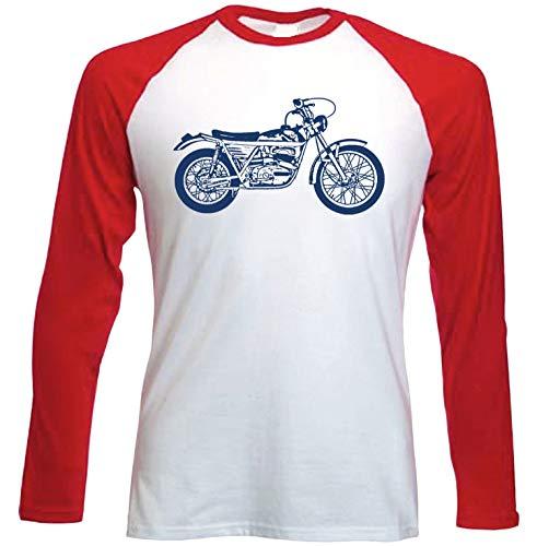 Teesandengines Bultaco tiron Camiseta de Mangas roja largas t-Shirt Size Large