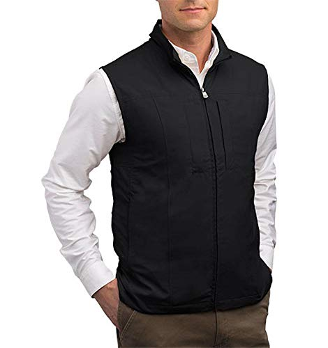 SCOTTeVEST RFID Travel Vest for Men - Utility Vest 26 with Pockets - Black Vest (BLK XXXL)