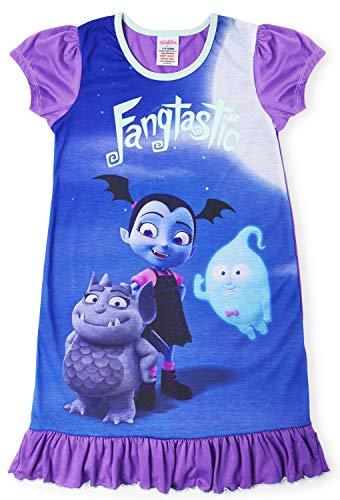 Camisetas de princesa Disney con el Rey León, Aladino, Cenicienta, La Patrulla Canina, La Sirenita. Producto oficial para niños, camisón para princesas Vampirina 3-4 Años