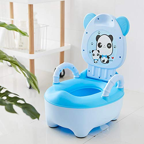 PPuujia Baby potty Baby Pot Children Toilet Seat Kids Potty Training Seat Children's Potty Portable Baby Toilet Bowl Cute Cartoon Pot Training Pan (Color : PJ3452B)