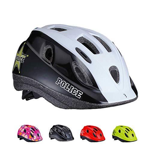 BBB Cycling Unisex-Youth Kinder Fahrradhelm Boogy | Insektenschutznetz | Radfahren Skateboard Roller Scooter | BHE-37 | Blau Polizei S (48-54 cm), police