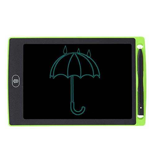 Bewinner1 LCD Writing Tablet, 8.5in No Bright Light No Blue Light No Myopia Eye Protection LCD Children Smart Graffiti Drawing Doodle Board One Click To Clear Kids' Doodle Scribbler Boards(Green)