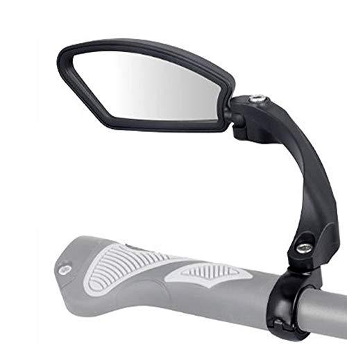 Specchietto Retrovisore Bici Regolabile 360° di Rotazione in Acciaio Inossidabile Specchietti Bici Manubrio per Bicicletta MTB Mountain Bike (Sinistra)