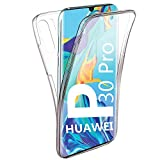 HUANGTAOLI Cover per Huawei P30 PRO, Custodia Crystal Case TPU PC Protezione 360° Fronte Retro Full Body (VOG-L09, VOG-L29, 6.47')