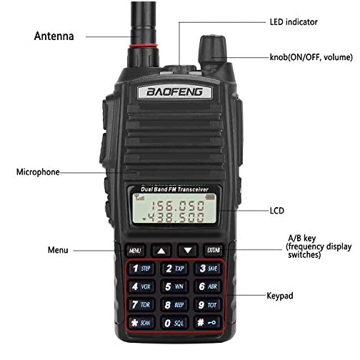 BaoFeng Radio UV-82+ 8W Handheld Dual Band VHF/UHF Two Way Ham Radio Rechargeable Long Range Walkie Talkies for Adults… 4