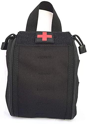 DDSGG Taillenbeutel Erste-Hilfe-Hülle Tragbare Camping Erste-Hilfe-Kit-Tasche Tactical Pouch Mehrzweck-Taille Pack Military Utility Kit Outdoor-Reisen Taschenbeutel (Color : Black)