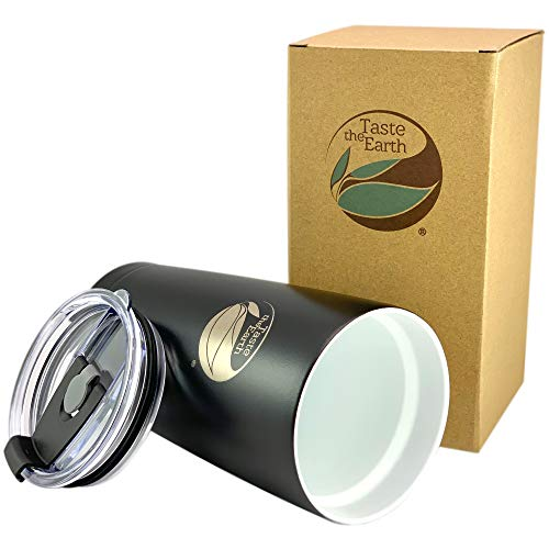 Ceramic Coated Coffee Travel Mug - Gen2 20oz premium ceramic coated travel mug coffee tumbler. THE ORIGINAL -Taste Lock ceramic coating, Double Wall Vacuum Insulated with lid- By: Taste The Earth