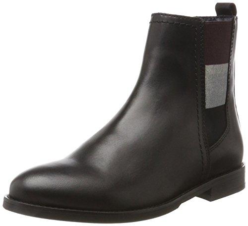 Hilfiger Denim Damen G1385ENNY 16A2 Chelsea Boots, Schwarz (Black), 36 EU