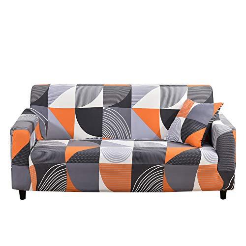 SHANNA Funda de sofá elástica de 3 plazas, Funda Antideslizante para sofá, Suave Cubierta con 1 Funda de Almohada (3 plazas, semicircular)