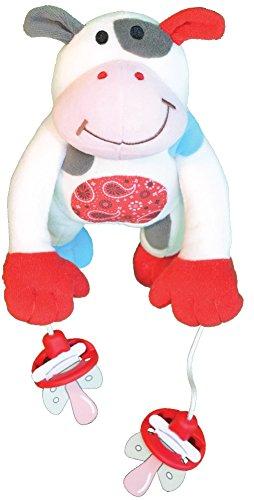 babywalz - Colgador de chupetes, diseño de peluche de vaca beige-Kuh