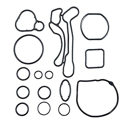 Ensun Engine Oil Cooler Gasket Seal for Chevrolet Cruze Aveo Sonic 1.6L / 1.8L only - Total 15 PCS Replaces 55353331